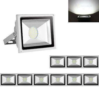 10X 30W LED Floodlight Security Garden Lamp IP65 Outdoor LED Lamp Cool White