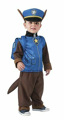 Paw Patrol Chase Costume w/ Body Suit & Backpack No Headgear Toddler Sz A342