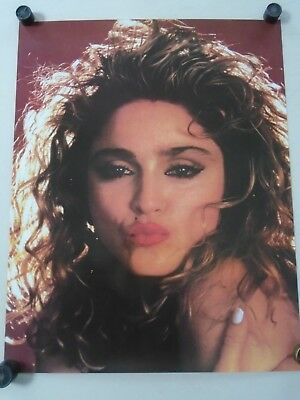 """Madonna / Original Vintage Poster / close-up - Hot Lips / Exc.New cond. 22 x 28"""""""