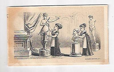 Old Trade Card Clean Marble With Sapolio Soap Wanamaker Philadelphia