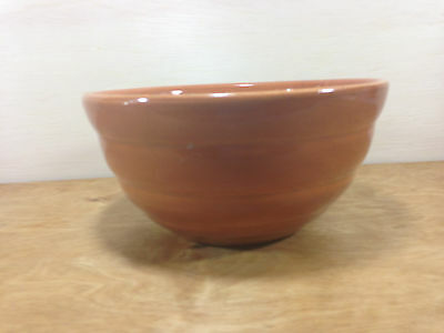 Bauer Pottery Los Angeles Gloss Pastels #18 Beehive Mixing Bowl Brown