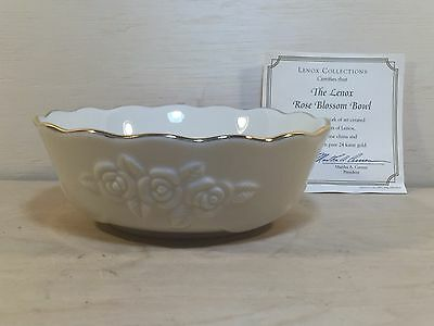 Lenox Collections The Lenox Rose Blossom Bowl 24Kt Gold Trim