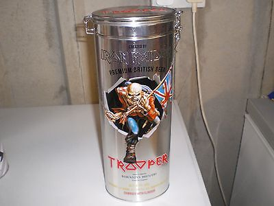 Iron Maiden Trooper Beer Ale Embossed Tin With Clip Lid