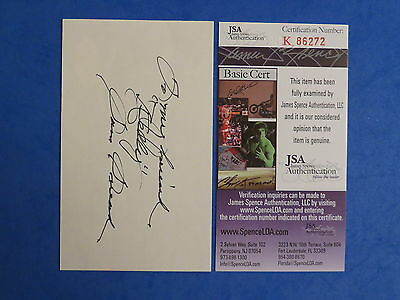 SAM SNEAD SIGNED 3x5 INDEX CARD ~ JSA Cert K86272 ~ AUTOGRAPH ~ PGA GOLF