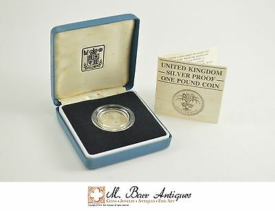 1985 Great Britain Silver Proof 1 Pound Coin *0262