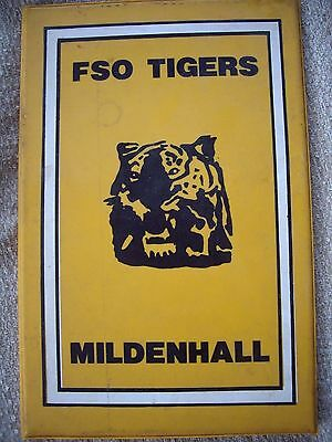 Mildenhall Fen Tigers 1970S/early 1980S Speedway Programme Board