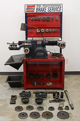 Ammco 4100B Heavy Duty Disc & Drum Brake Lathe Loaded w/ Tooling & Bench
