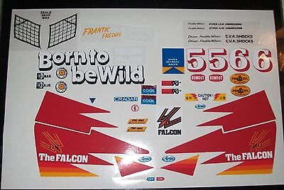THE FALCON  CUSTOM TAMIYA KYOSHO VINTAGE DECALS STICKERS PRECUT 1/10th RC CARS