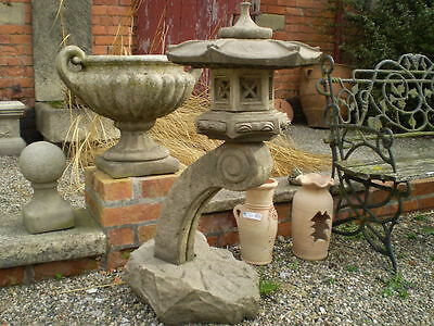 Stone Garden Large Cantilever Japanese Lantern / Pagoda Ornament