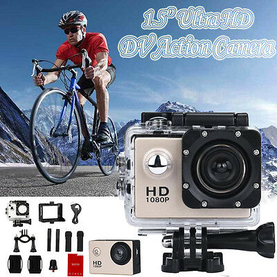 "1.5"" Ultra HD 1080P Sports DV Action Camera Waterproof Camcorders Video Xmas"