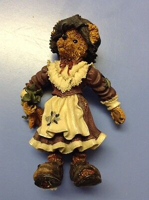 FREE SHIPPING!! BOYDS BEARS MOVABLE LIMBS STANDING FIGURE Thanksgiving Pilgrim