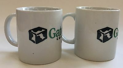 2 Gateway Computer Coffee Mugs Cow Country Logo Vintage Computing Computer PC