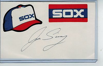 Jim Siwy Index Card Signed 1982 1984 Chicago White Sox Psa/dna Certified