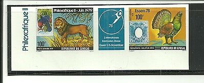 Senegal- Unusual Imperf ( Unlisted)  Strip Pair For German Show ( Mnh )