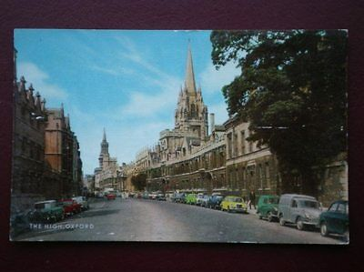 Postcard Oxfordshire Oxford - The High Lots Of 1960's Cars