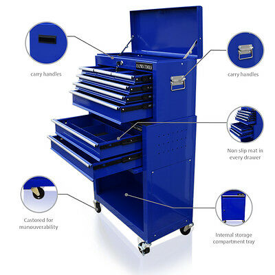 358  Us Pro Tools Blue Tool Chest Box Roller Cabinet Drawer Dividers Cover