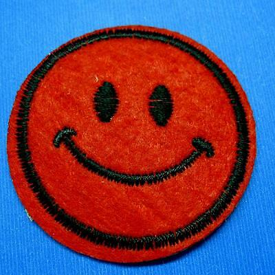Smile Angry Sad Happy Face Retro Applique Iron On Sew Patch Biker Embroidery Lot