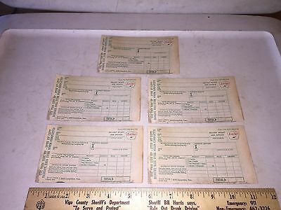 5 - 1960 SINCLAIR Gas & Oil Service Station Invoice Receipts - Dinosaur