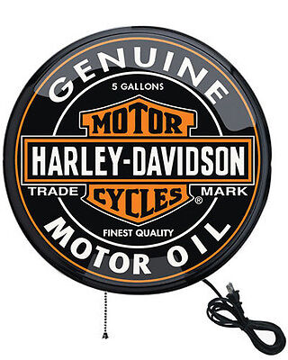 """Harley-Davidson 16"""" Oil Can Pub Light Sign - Wall-Mount, Low Wattage HDL-15619"""