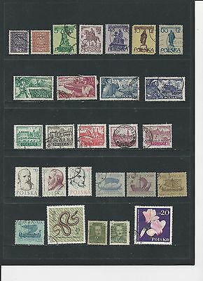 POLAND - SELECTION OF USED STAMPS - #POL7ab - 2 SCANS