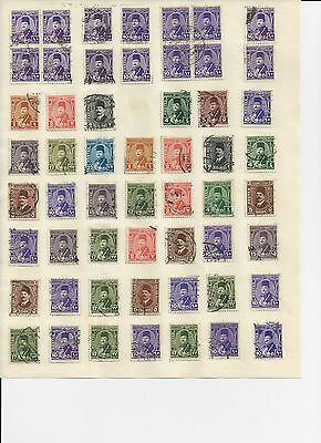 EGYPT - 3 PAGES OF USED STAMPS - #EGYabc  3 photos