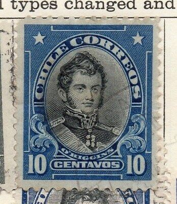 Chile 1911 Early Issue Fine Used 10c. 112821