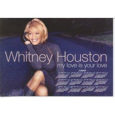 WHITNEY HOUSTON My Love Is Your Love CARD Promo Only Calendar Postcard Japanese