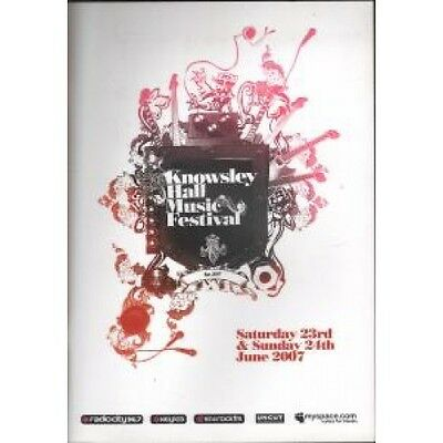 KNOWSLEY HALL MUSIC FESTIVAL 23Rd And 24Th June 2007 PROGRAMME A4 Colour Tour