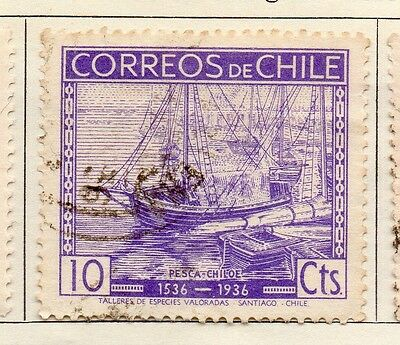 Chile 1936 Early Issue Fine Used 10c. 112894