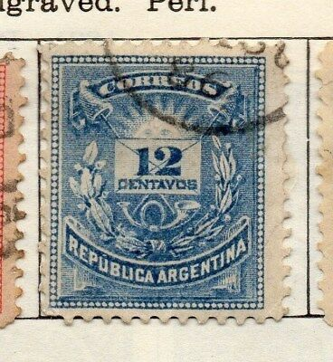 Argentine Republic 1884 Early Issue Fine Used 12c. 112934