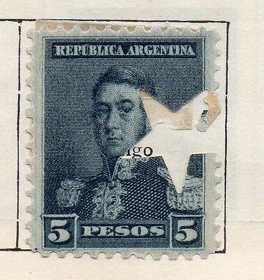 Argentine Republic 1892 Issue Fine Mint Hinged 5P. Star Hole Punched 112976