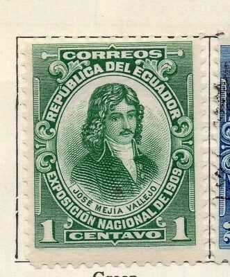 Ecuador 1909 Early Issue Fine Mint Hinged 1c. 113495