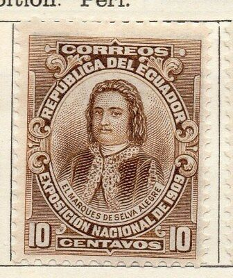 Ecuador 1909 Early Issue Fine Mint Hinged 10c. 113497