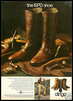1969 vintage ad for Dingo Boots