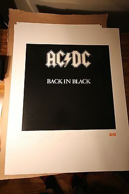 ACDC Back In Black Album Art Print Lithograph Angus Young S/N Edition With COA