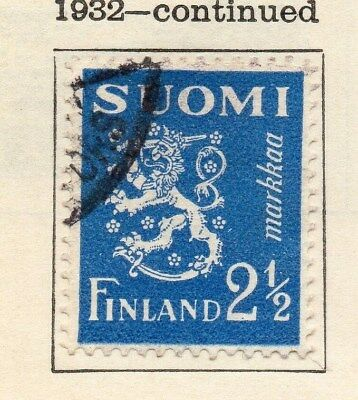 Finland 1932 Early Issue Fine Used 2.5m. 113620