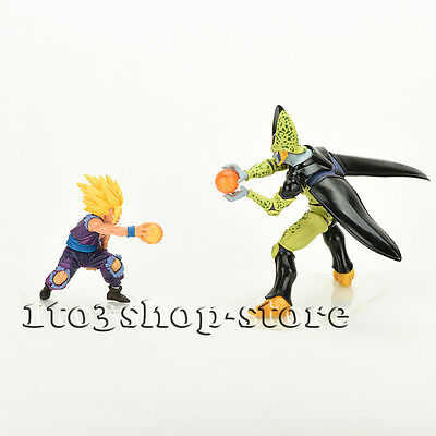 Dragon Ball Z Super Saiyan Gohan vs Perfect Cell 2pcs Figure Dolls Gift set NEW