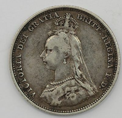1887 Great Britain Victoria Pence - SHARP COIN *A73