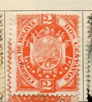 Bolivia 1894 Early Issue Fine Mint Hinged 2c. 113731