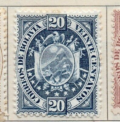 Bolivia 1894 Early Issue Fine Mint Hinged 20c. 113734