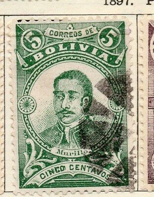 Bolivia 1897 Early Issue Fine Used 5c. 113739