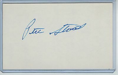 Pete Stanicek Index Card Signed 1987-88 Baltimore Orioles Psa/dna Certified