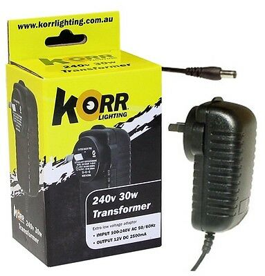Korr Lighting LED Transformer 36 Watt Converts 12 Volt To 240 Volt