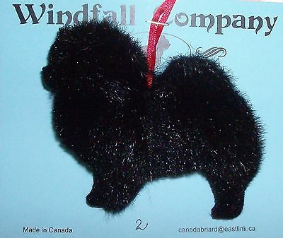 Black Chow Chow Dog Plush Christmas Canine Ornament # 2 by WC