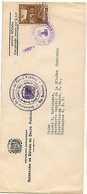 Dominican  Reupublic official cover to US 1954  nice item         KL1220