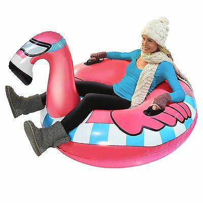 GoFloats Winter Snow -  Tube Flying Flamingo - The Ultimate Sled and Toboggan