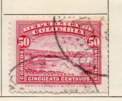 Colombia 1917 Early Issue Fine Used 50c. 113104