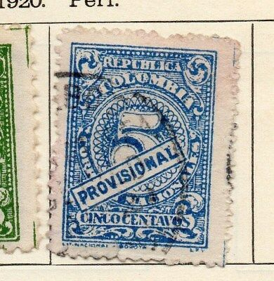 Colombia 1920 Early Issue Fine Used 5c. 113107