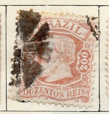 Brazil 1881 Early Issue Fine Used 200r. 113193