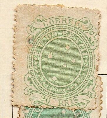 Brazil 1890 Early Issue Fine Mint Hinged 20r. 113203